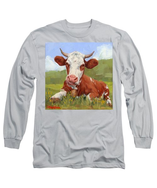 Cow Lick Mini Painting  Long Sleeve T-Shirt
