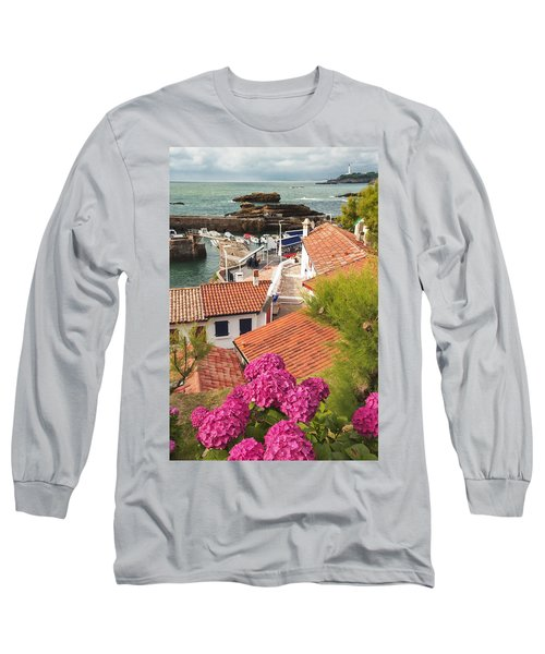 cozy tourist town on the Bay of Biscay Long Sleeve T-Shirt