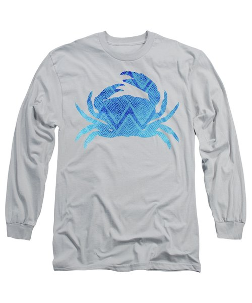 Crab, Tropical Caribbean Blue Crab Long Sleeve T-Shirt