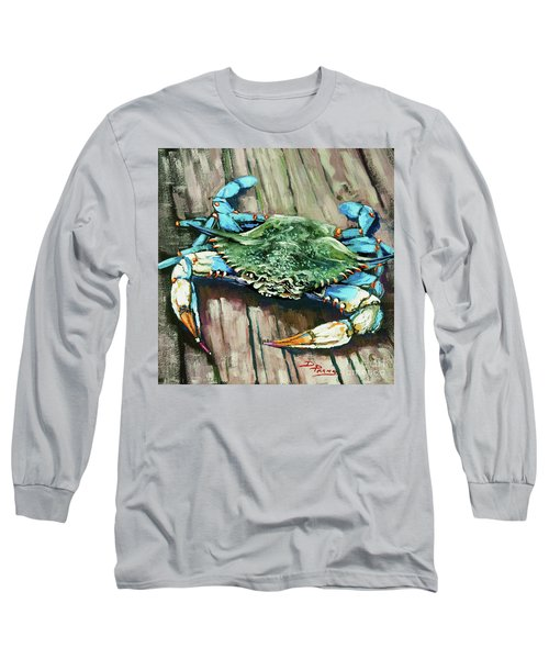 Crabby Blue Long Sleeve T-Shirt
