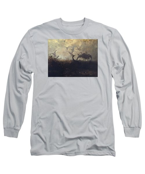 Cranes Take Off Long Sleeve T-Shirt