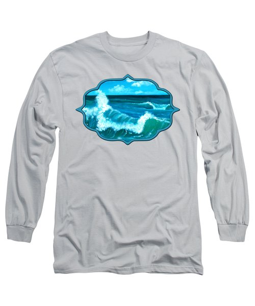 Long Sleeve T-Shirt featuring the painting Crashing Wave by Anastasiya Malakhova