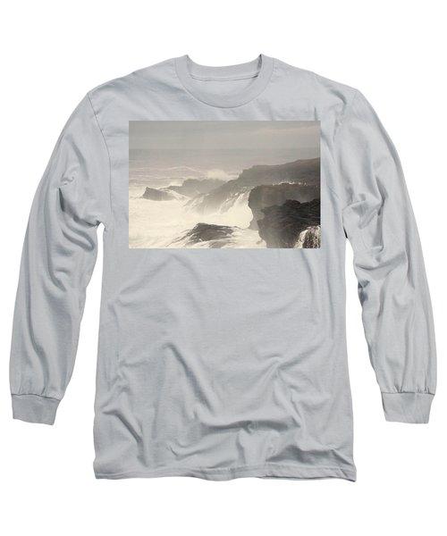 Crashing Waves Long Sleeve T-Shirt by Angi Parks