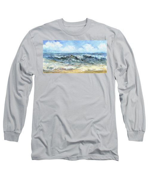 Crashing Waves In Florida  Long Sleeve T-Shirt