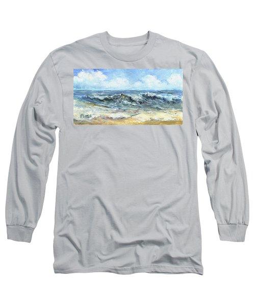 Crashing Waves In Florida  Long Sleeve T-Shirt