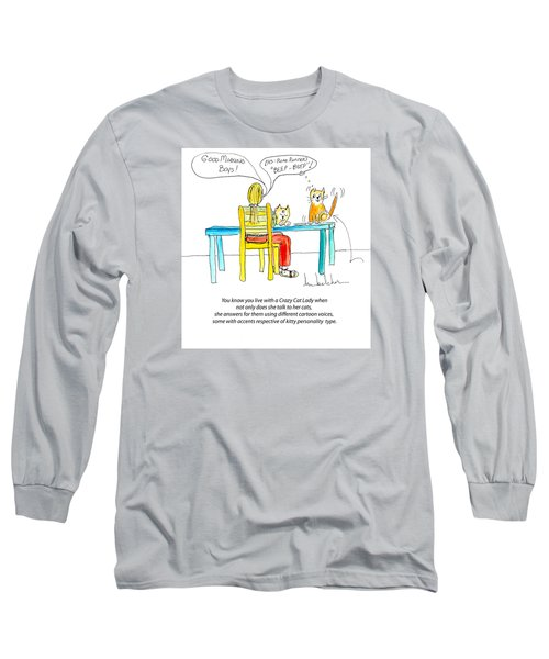Crazy Cat Lady 0009 Long Sleeve T-Shirt