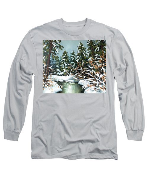 Creek, Winter, Snow Long Sleeve T-Shirt
