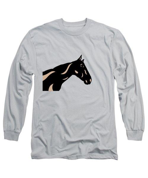 Crimson - Pop Art Horse - Black, Hazelnut, Island Paradise Blue Long Sleeve T-Shirt