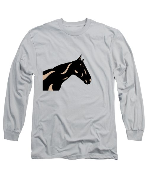 Crimson - Pop Art Horse - Black, Hazelnut, Island Paradise Blue Long Sleeve T-Shirt