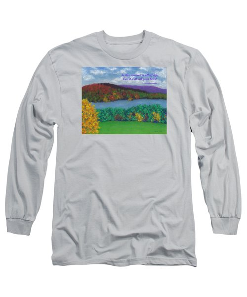 Crisp Kripalu Morning - With Quote Long Sleeve T-Shirt