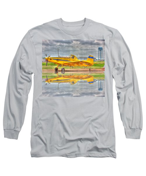 Crop Duster 002 Long Sleeve T-Shirt by Barry Jones