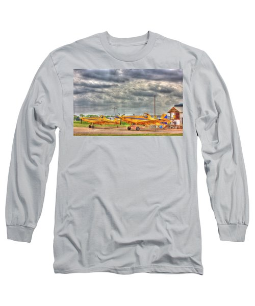 Crop Duster 003 Long Sleeve T-Shirt by Barry Jones