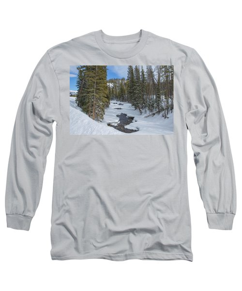 Crossing The Elk Long Sleeve T-Shirt by Sean Allen