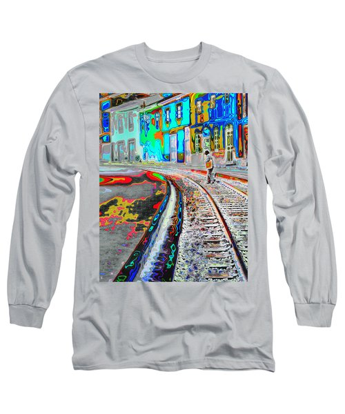 Crossing The Tracks Long Sleeve T-Shirt