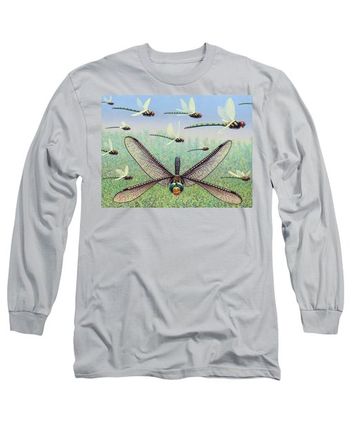 Long Sleeve T-Shirt featuring the painting Crossways by James W Johnson
