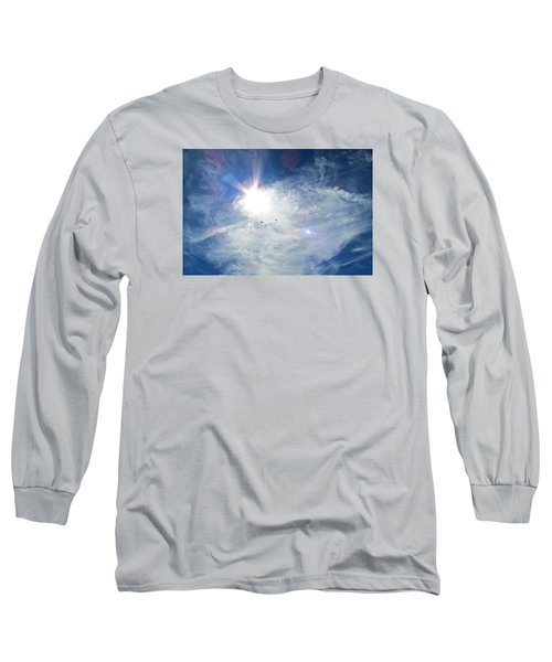 Long Sleeve T-Shirt featuring the photograph Crows Above by Brenda Pressnall