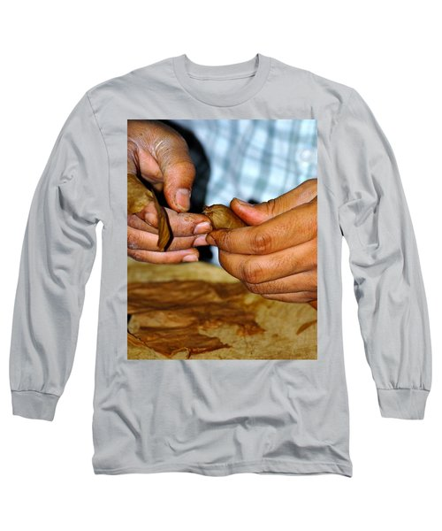 Cuban Cigar Roller Long Sleeve T-Shirt