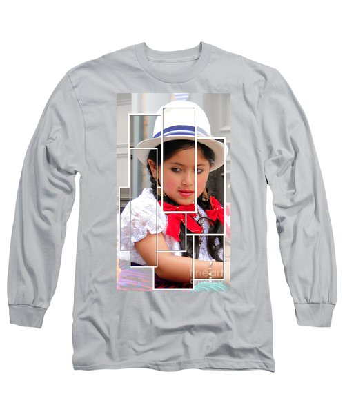 Long Sleeve T-Shirt featuring the photograph Cuenca Kids 890 by Al Bourassa