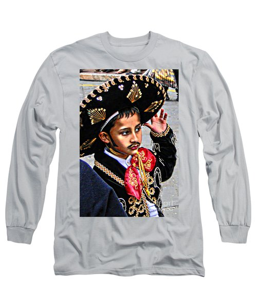 Long Sleeve T-Shirt featuring the photograph Cuenca Kids 897 by Al Bourassa