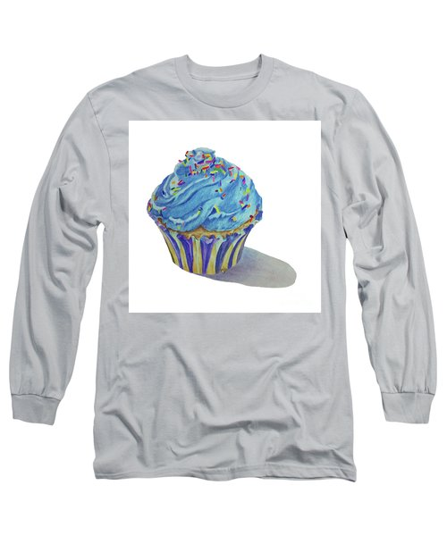 Long Sleeve T-Shirt featuring the drawing Cupcake by Terri Mills