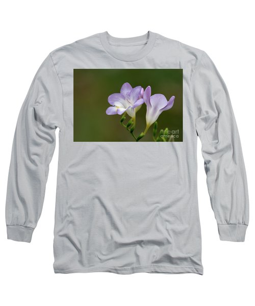 Cupertino Lavender Freesias Long Sleeve T-Shirt