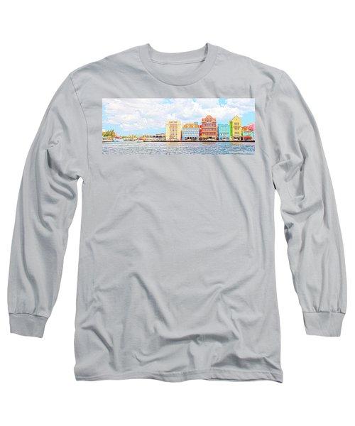 Curacao Awash Long Sleeve T-Shirt by Allen Carroll