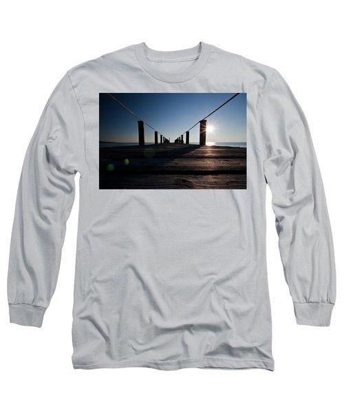 Currituck Sunset Long Sleeve T-Shirt by David Sutton