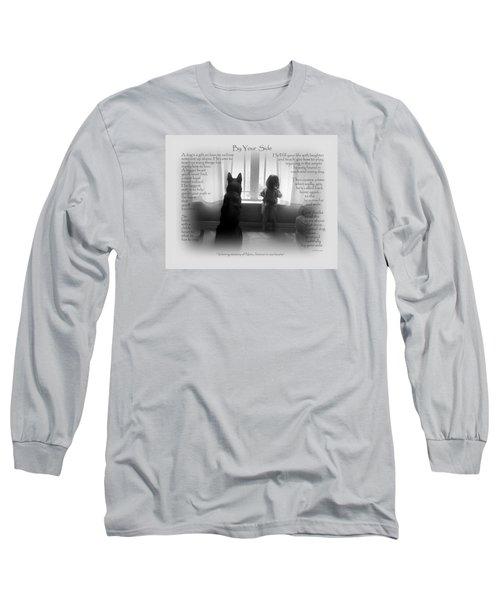 Custom Paw Print   Nero Long Sleeve T-Shirt