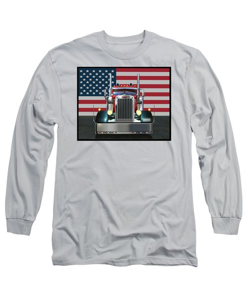 Custom Peterbilt 2 Long Sleeve T-Shirt by Stuart Swartz