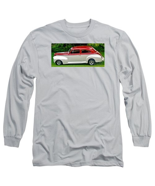 Customized Forty One Chevy Hot Rod Long Sleeve T-Shirt by Marsha Heiken
