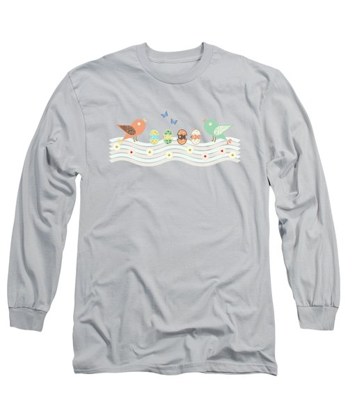 Cute Birds Long Sleeve T-Shirt