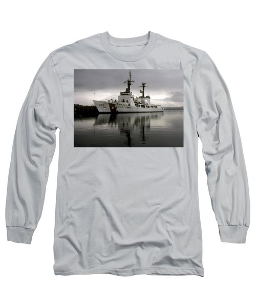 Cutter In Alaska Long Sleeve T-Shirt by Steven Sparks