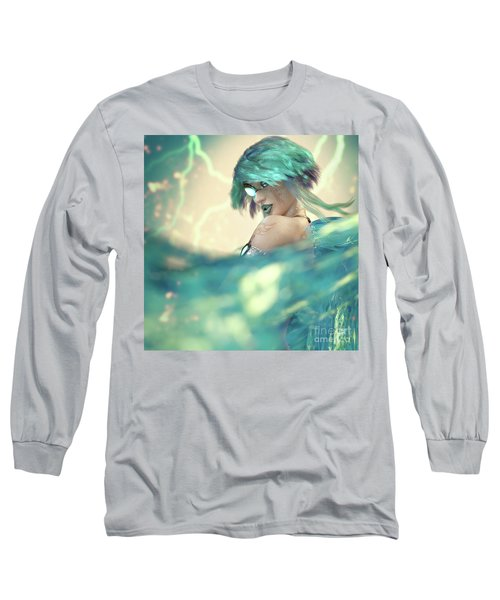 Cyan Long Sleeve T-Shirt