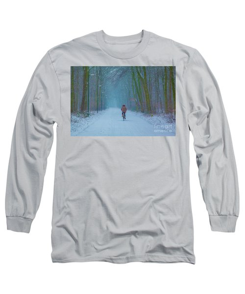 Cycling In The Snow Long Sleeve T-Shirt