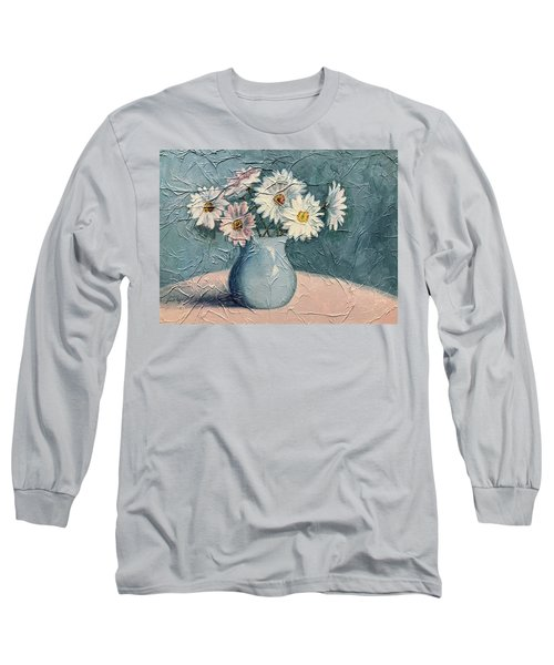 Daisies Long Sleeve T-Shirt by Janet King