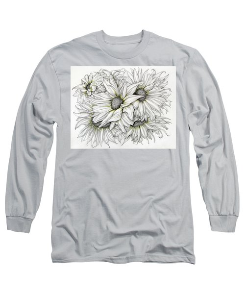 Sunflowers Pencil Long Sleeve T-Shirt