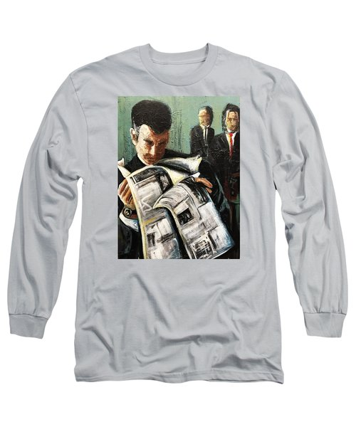 Long Sleeve T-Shirt featuring the painting Damage Report by Helen Syron