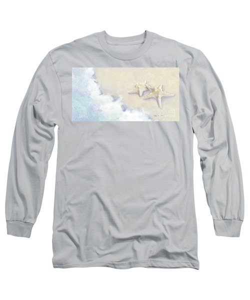 Long Sleeve T-Shirt featuring the painting Dance Of The Sea - Knobby Starfish Impressionstic by Audrey Jeanne Roberts