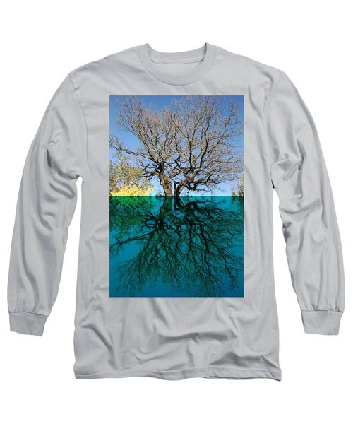 Dancers Tree Reflection  Long Sleeve T-Shirt