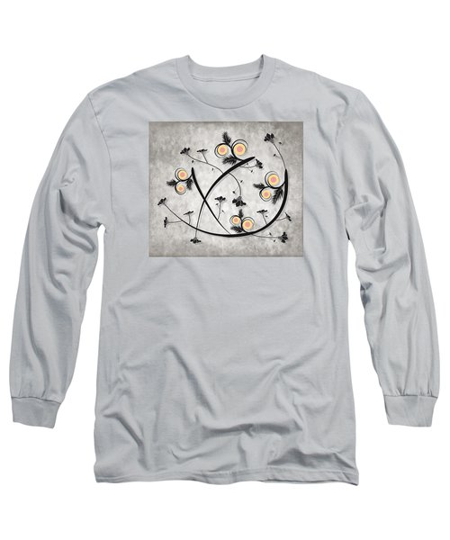 Long Sleeve T-Shirt featuring the digital art Dancing Flowers by Milena Ilieva