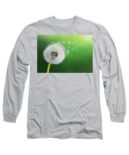 Long Sleeve T-Shirt featuring the photograph Dandelion Seed by Bess Hamiti