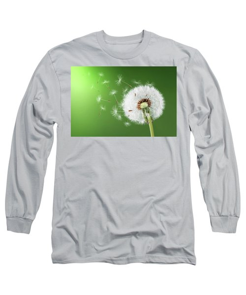 Long Sleeve T-Shirt featuring the photograph Dandelion Seeds by Bess Hamiti