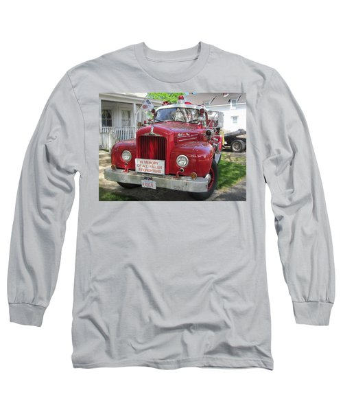 Danvers - Old Fire Engine Long Sleeve T-Shirt by Paul Meinerth
