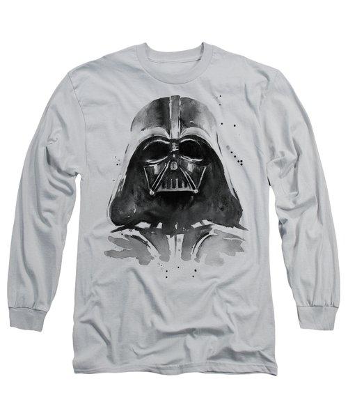 Darth Vader Watercolor Long Sleeve T-Shirt