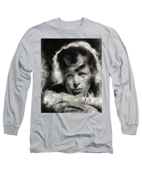 David Bowie By Mary Bassett Long Sleeve T-Shirt