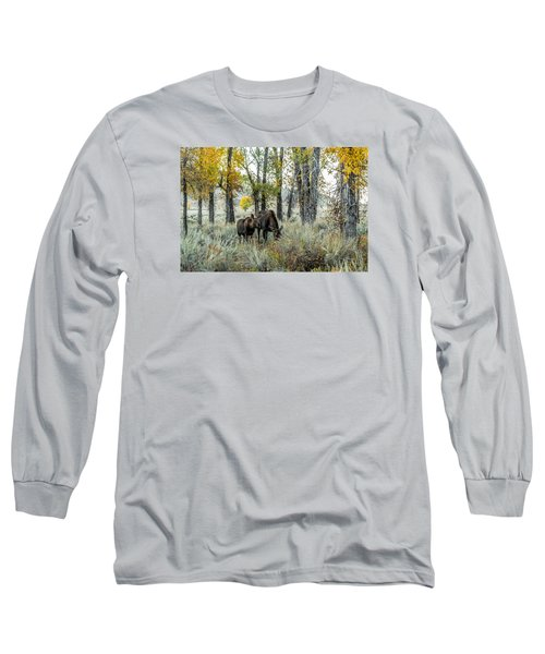 Long Sleeve T-Shirt featuring the photograph Day's End At Gros Ventre by Yeates Photography