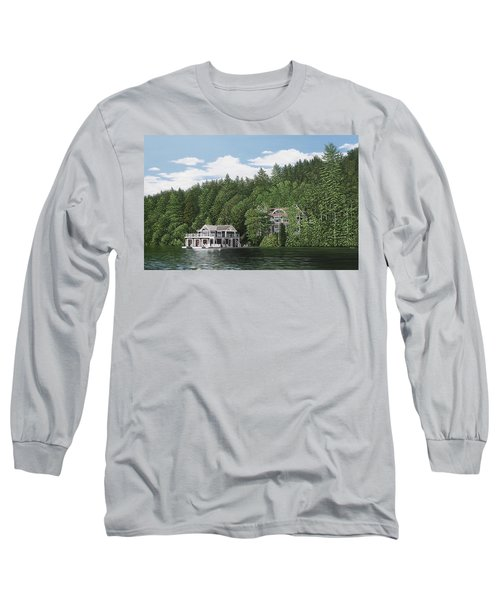 Long Sleeve T-Shirt featuring the painting De Groote Summer Home Muskoka by Kenneth M Kirsch