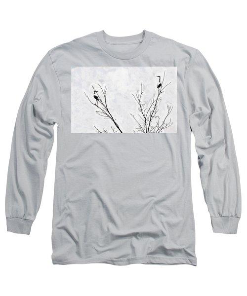Dead Creek Cranes Long Sleeve T-Shirt by Jim Proctor