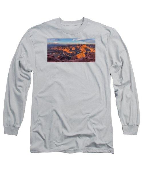 Dead Horse Point Sunrise Panorama Long Sleeve T-Shirt