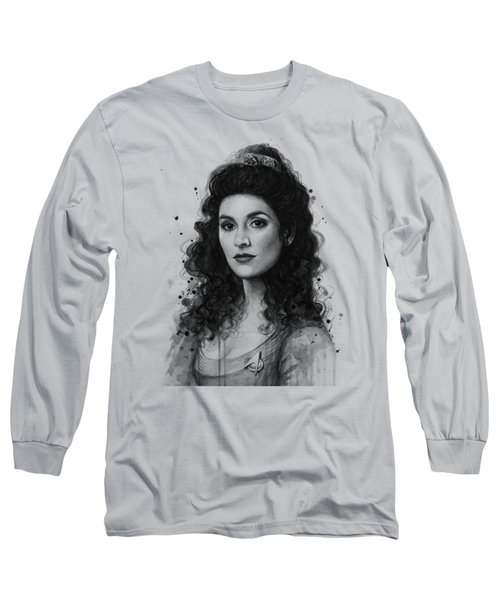 Deanna Troi - Star Trek Fan Art Long Sleeve T-Shirt by Olga Shvartsur